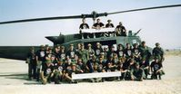 68-16614 - 336th unit members with UH-1V 68-16614 Desert Storm Desert Shield Saudi Arabia 1991 - by unknown