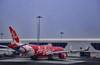 9M-XXB @ VNKT - Air Asia Airbus A330-343X airplane docked at Kathmandu International Airport - by miro susta