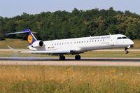 D-ACKI @ LFSB - Canadair Regional Jet CRJ-900LR, Landing rwy 15, Bâle-Mulhouse-Fribourg airport (LFSB-BSL) - by Yves-Q