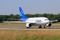 C-FDAT @ LFSB - Airbus A310-308, Take off run rwy 15, Bâle-Mulhouse-Fribourg airport (LFSB-BSL) - by Yves-Q