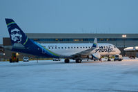 N186SY @ KBOI - Parked at the Alaska Airlines Gate C-7 awaiting the morning flight. - by Gerald Howard