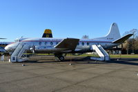 G-ALWF @ EGSU - Vickers Viscount 701 in old BEA livery at Duxford. - by moxy