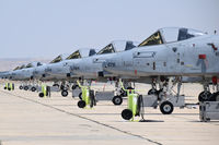 80-0276 @ KBOI - Seven of the 8 A-10Cs not deployed to the Middle East in April 2016 by the 190th Fighter Sq., 124th Fighter Wing, Idaho ANG. - by Gerald Howard