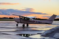 C-FBIY @ CYGM - At home base in Gimli Manitoba. After the storm and before sunset - by Ken Gowler