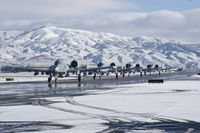 78-0703 @ KBOI - On Foxtrot leading flight of A-10Cs to RWY 10R. 190th Fighter Sq., Idaho ANG. - by Gerald Howard