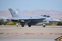 "168470 @ KBOI - Landing roll out on RWY 10R.  VFA-14 ""Tophatters"",