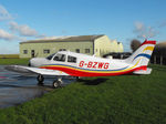 G-BZWG @ EGSV - Visiting aircraft - by Keith Sowter