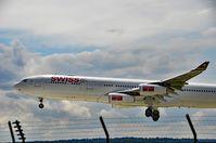 HB-JMB @ LSZH - Swiss International Airlines Airbus A340-313 Airplane, Zurich-Kloten International Airport - by miro susta