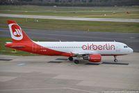 D-ABNW @ EDDL - Airbus A320-214 - AB BER Air Berlin - 2627 - D-ABNW - 30.03.2016 - DUS - by Ralf Winter