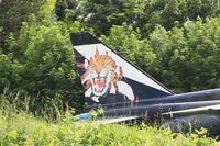 A72 - Sepecat Jaguar A, Close view of tail, Preserved at Savigny-Les Beaune Museum - by Yves-Q
