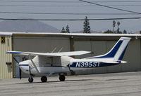 N395ST @ KRAL - 1973 Cessna 182P Skylane with cockpit covered under 102F sun @ Riverside MAP, CA home base