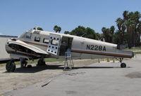 N228A @ KRIR - 1962 Beech H-18 under restoration @ Flabob Airport, Riverside, CA