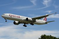 A7-BEF @ EGLL - Qatar B773 landing in LHR - by FerryPNL