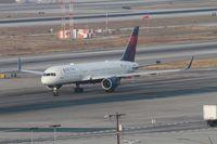 N540US @ KLAX - Delta Boeing 757-251, taxiway Bravo for 25R KLAX