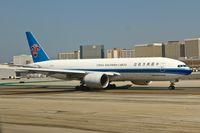B-2075 @ KLAX - China Southern Cargo Boeing 777-F1B, RWY 25R KLAX - by Mark Kalfas