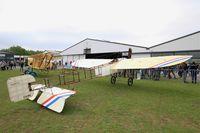 F-AZBA @ LFFQ - Bleriot XI Replica, Static display, La Ferté-Alais airfield (LFFQ) Air show 2016 - by Yves-Q