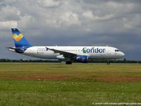 D-AICD @ EDDL - Airbus A320-212 - DE CFG Condor 'Janosch' livery - 884 - D-AICD - 30.07.2015 - DUS - by Ralf Winter