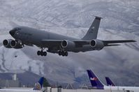 57-1499 @ KBOI - Making several touch & goes on a dark, wet afternoon. Call sign Utah 51  151st ARW, Utah ANG. - by Gerald Howard