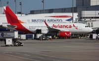 N703AV @ KIAH - Airbus A319
