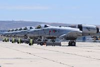 78-0618 @ KBOI - Six A-10C parked on the Idaho ANG ramp of 8 that did not get deployed to the Middle East in April 2016. - by Gerald Howard