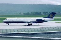 9A-BTD @ LFBT - Fokker 100,Tarbes-Lourdes-Pyrénées airport (LFBT-LDE) - by Yves-Q