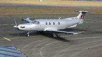 LX-FDI @ EDQD - Pilatus PC-12 LX-FDI Bayreuth Airport - by flythomas