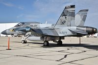 "162899 @ KBOI - Parked on the south GA ramp.  VFA-204 River Rattlers""  NAS New Orleans. - by Gerald Howard"