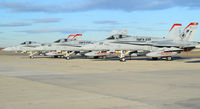 """165188 @ KBOI - Parked on south GA ramp with other squadron members. VMFA-232 """"Red Devils""""  MAG-11, 3rd MAW, NAS Miramar, CA. - by Gerald Howard"""