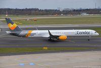 D-ABOF @ EDDL - Boeing 757-330 - DE CFG Condor 'Hannover' sticker - 846 - D-ABOF - 30.03.2016 - DUS - by Ralf Winter