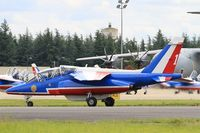 E146 @ LFOA - Dassault-Dornier Alpha Jet E (F-UHRR), Leader of Patrouille de France 2016, Taxiing, Avord Air Base 702 (LFOA) Open day 2016 - by Yves-Q