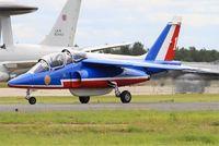 E146 @ LFOA - Dassault-Dornier Alpha Jet E (F-UHRR), Leader of Patrouille de France 2016, Avord Air Base 702 (LFOA) Open day 2016 - by Yves-Q