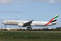 A6-EGY @ LMML - B777 A6-EGY Emirates Airlines - by Raymond Zammit