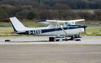 G-AZXD @ EGFH - Visiting Reims/Cessna Skyhawk - by Roger Winser