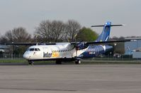 OE-LIB @ EDLN - Intersky ATR72 waiting for a new operator in MGB - by FerryPNL