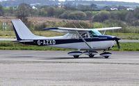 G-AZXD @ EGFH - Visiting Reims/Cessna Skyhawk. - by Roger Winser