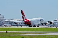 VH-OQA @ DFW - Landing at DFW Airport, Texas