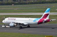 D-ABNI @ EDDL - Eurowings A320 under tow - by FerryPNL