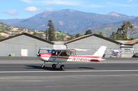 N714HH @ SZP - 1977 Cessna 150, Continental O-200 100 Hp, landing Rwy 22 - by Doug Robertson