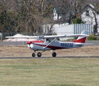 N5523G @ 47N - A 1969 Cessna 150 races down the runway for take off. - by Daniel L. Berek