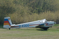 D-KODO @ EDWN - Scheibe SF-25B Falke parked at Klausheide (Nordhorn-Lingen) airfield, Germany - by Van Propeller