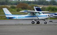 G-BNSM @ EGFH - Visiting Cessna 152T operated by Cornwall Flying Club. - by Roger Winser