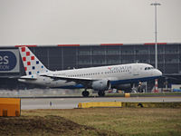 9A-CTH @ EHAM - CROATION AIRLINES TAKING  of runway 24 - by fink123