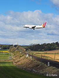 D-AGWJ @ EGPH - Pictorial approach to Edinburgh with new Forth Road Bridge in background - by Clive Pattle