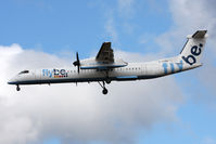 G-ECOV @ EGNT - De Havilland Canada DHC-8-402Q Dash 8 on approach to 25 at Newcastle Airport. April 23rd 2009. - by Malcolm Clarke