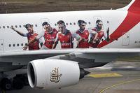 A6-EUA @ EDDL - Arsenal - by Volker Hilpert