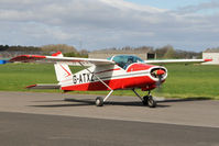 G-ATXZ @ EGBR - Bolkow BO-208C Junior at Breighton Airfield's Early Bird Fly-In. April 13th 2014. - by Malcolm Clarke