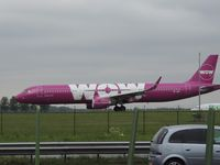 TF-JOY @ EHAM - WOW AIR A321 TAXING TO RUNWAY 36C - by fink123