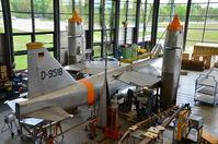 D-9518 - EWR VJ101C, D-9518 in the Restoration Workshop Hangar at Deutsches Flughafen Museum, Schlossheim - by Andrew Ratcliffe