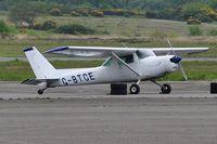 G-BTCE @ EGFH - Visiting Cessna 152 taildragger. - by Roger Winser
