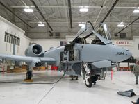 78-0584 @ KBOI - In the maintenance hangar fresh with new paint.  190th Fighter Sq., Idaho ANG. - by Gerald Howard
